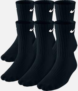 Kids' Nike Performance Cushion 6-Pack Crew Socks - Size Large Product Image