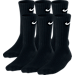 Front view of Kids' Nike Performance Cushion 3-Pack Crew Socks - Size Medium in Black