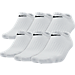 Front view of Kids' Nike Performance Cushion 6-Pack No-Show Socks - Size Large in Black
