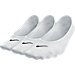 Back view of Women's Nike Lightweight No-Show 3-Pack Socks in White/Black