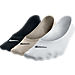 Back view of Women's Nike Lightweight No-Show 3-Pack Socks in Black/White/Neutral