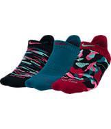 Women's Nike Dri-FIT Graphic 3-Pack No-Show Tab Socks
