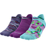 Women's Nike Dri-FIT Graphic 3-Pack No-Show Tab Socks