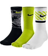 Men's Nike Dri-FIT Triple Fly 3-Pack Crew Socks