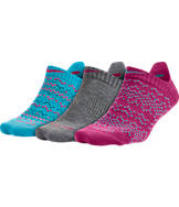 Women's Nike Dri-FIT Graphic No Show 3-Pack Socks