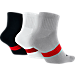Back view of Jordan Dri-FIT 3-Pack Low Quarter Socks in 010