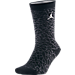 Front view of Unisex Air Jordan Retro 3 Crew Socks in Black/White