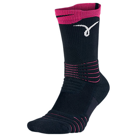Men's Nike Elite Versatility Kay Yow Graphic Print Crew Socks