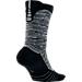 Front view of Men's Nike Elite Versatility Basketball Crew Socks in Anthracite/Black/Cool Grey