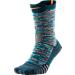 Back view of Men's Nike Elite Versatility Basketball Crew Socks in Squadron Blue/Light Blue/Citrus