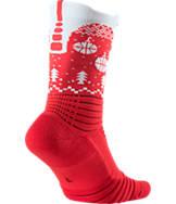 Unisex Nike Elite Versatility Christmas Crew Basketball Socks