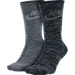 Front view of Men's Nike Sportswear Advance Crew Socks - 2 Pack in Dark Grey/Cool Grey/Black