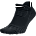 Front view of Men's Nike Elite Versatility No-Show Basketball Socks in Black/White