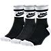 Front view of Women's Nike Sportswear Striped Low Socks - 3-Pack in Multi-Color