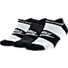 Front view of Women's Nike Sportswear Striped No-Show Socks - 3-Pack in Multi-Color