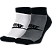 Front view of Men's Nike Graphic 2-Pack No-Show Socks in Black/White/Grey/Multi-Color