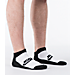 Back view of Men's Nike Graphic 2-Pack No-Show Socks in Black/White/Grey/Multi-Color