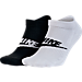 Front view of Men's Nike Graphic 2-Pack No-Show Socks in Black/White