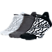 Front view of Women's Nike Cushion 3-pack No-Show Socks in Black/Dark Grey/White