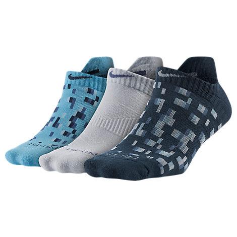 Women's Nike Dri-FIT Graphic No Show 3-Pack Socks