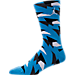 Back view of Men's Air Jordan 7 Crew Socks in University Blue