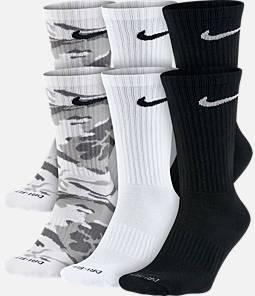 Unisex Nike Dry Cushioned 6-Pack Crew Socks Product Image