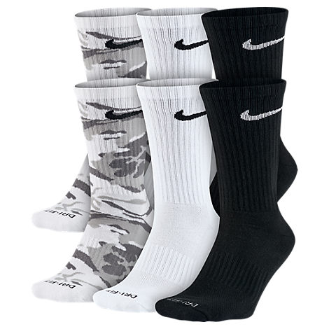 Unisex Nike Dry Cushioned 6-Pack Crew Socks