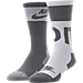 Front view of Men's Nike Sportswear Crew Socks - 2 Pack in Grey/White