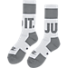 Alternate view of Men's Nike Sportswear Crew Socks - 2 Pack in Grey/White