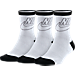 Front view of Women's Nike Sportswear Striped 3-Pack Crew Socks in White/Black