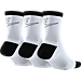 Back view of Women's Nike Sportswear Striped 3-Pack Crew Socks in White/Black