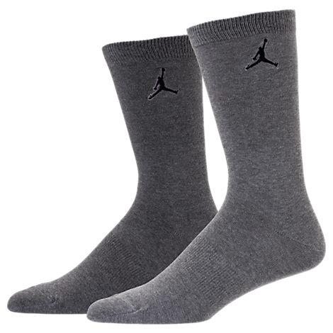 Unisex Jordan Heathered Crew Socks - 2 Pack