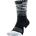 Alternate view of Unisex Nike Elite 1.5 Pulse Crew Basketball Socks in Black/White/Black