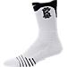Back view of Unisex Nike Kyrie Versatility Crew Socks in White/Black/White
