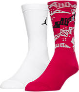 Kids' Jordan Bat Print 2-Pack Crew Socks
