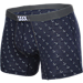 Back view of Men's Saxx Underwear Co Modern Fit Vibe Boxer Briefs in Navy