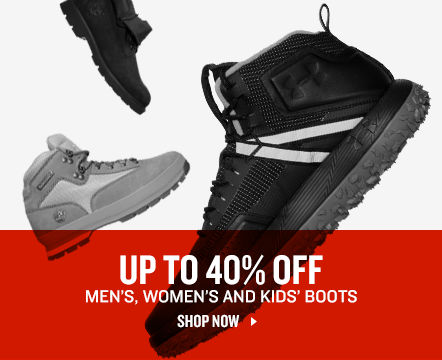 Up To 40% Off Men's, Women's, and Kids' Boots.
