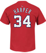 Men's Majestic Washington Nationals MLB Bryce Harper Name and Number T-Shirt