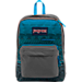 Front view of JanSport Digibreak Backpack in Blue Digi Stripe Fade