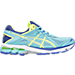 Right view of Women's Asics GT-1000 4 Running Shoes in Turquoise/Flash Yellow/Acai
