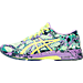 Left view of Women's Asics GEL-Noosa Tri 11 Running Shoes in Patina Green/Flash Yellow/Violet