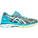 Right view of Women's Asics Gel Kayano 23 Running Shoes in Shark/Aruba Blue/Aquarium