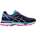 Right view of Women's Asics GEL-Cumulus 18 Running Shoes in Indigo Blue/Silver/Pink Glow