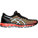 Right view of Men's Asics Gel-Quantum 360 2 Running Shoes in Black/White/Green Gecko