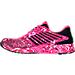 Left view of Women's Asics FuzeX PR Running Shoes in Pink Glow/White/Pink Ribbon