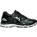 Right view of Women's Asics GEL-Nimbus 19 Running Shoes in Black/Onyx/Silver