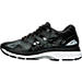Left view of Women's Asics GEL-Nimbus 19 Running Shoes in Black/Onyx/Silver