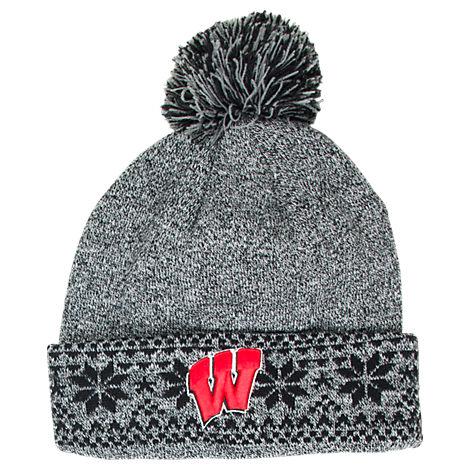 Women's Zephyr Wisconsin Badgers College Timberwolf Knit Hat