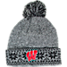 Front view of Women's Zephyr Wisconsin Badgers College Timberwolf Knit Hat in Team Colors