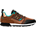 Right view of Men's New Balance Trailbuster Casual Shoes in Tan/Teal